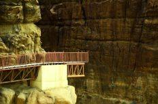 Željezna skela za ulaz u kanjon Wadi Mujib (foto J. Gracin)
