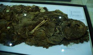 Mumija Nabatejca u muzeju u Sodomi (foto J. Gracin)