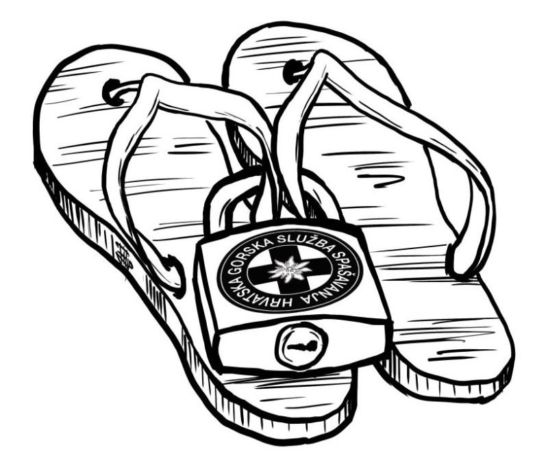 Japanke, omiljena obuća nadobudnih 'planinara' (foto HGSS)