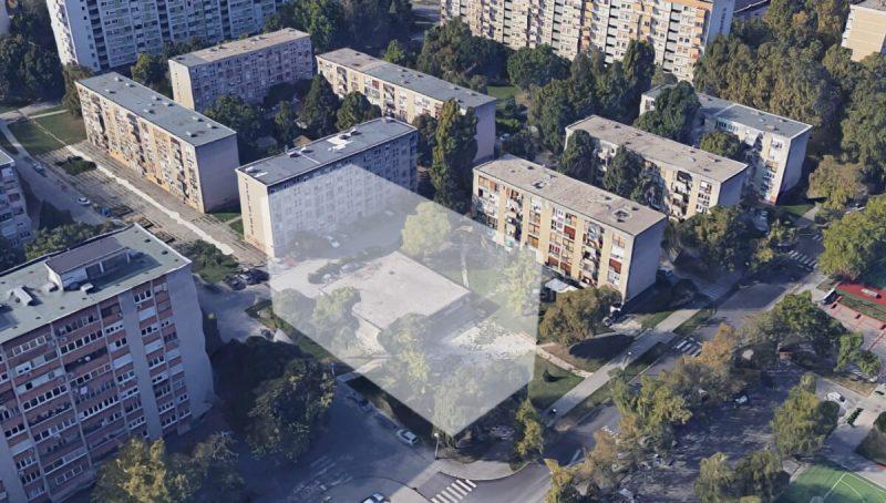 Planirana nakaradna građevina usred parka (foto Facebook Knežija brani park)