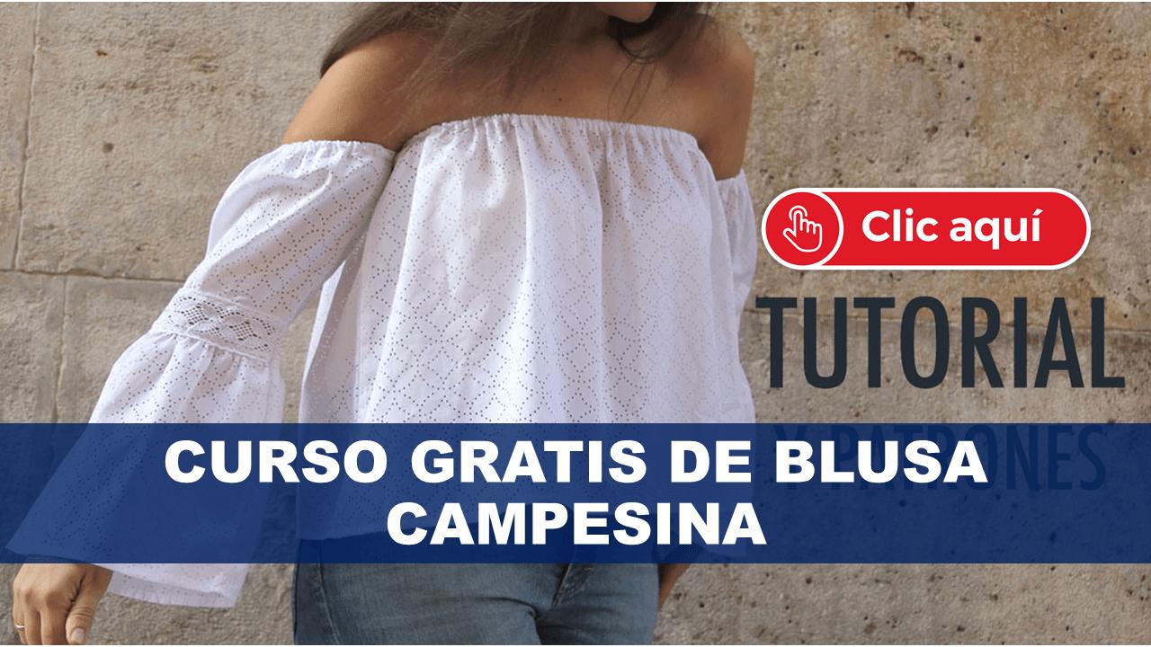 Curso Gratis de Blusa Campesina