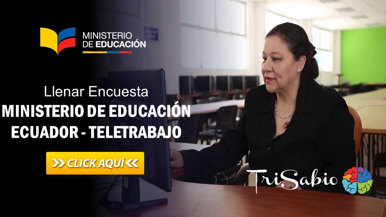 Llenar Encuesta - Ministerio de Educación Ecuador - Teletrabajo