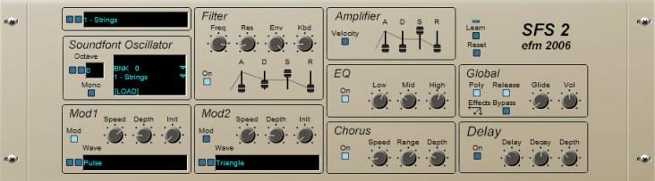 Free Soundfonts player EFM SFS V3