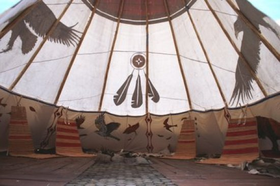 inside the teepee