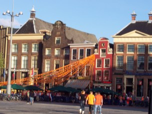 World cup soccer festivities while I w.as visiting the Netherlands
