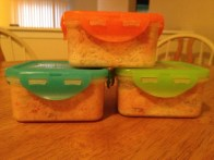 Butter chicken leftovers in awesome tupperware!