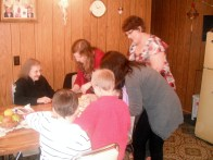 Gingerbread house making with the entire family.