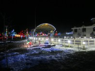 The Arts and Culture park all lit up for the holidays!