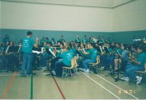 This was at a graduation concert in 2001.