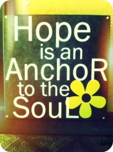 Hope is  an anchor