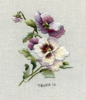 Miniature Victorian Pansies