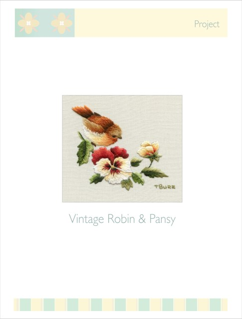 Vintage Robin & Pansy Project with step by step instructions