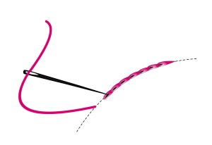 split stitch on curve