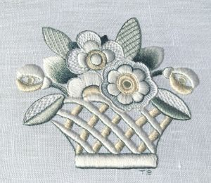 Complete Lesson in whitework:  Flower Basket