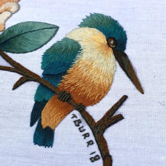 kingfisher & flower 5