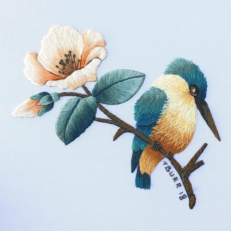 kingfisher & flower 9
