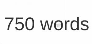 750words