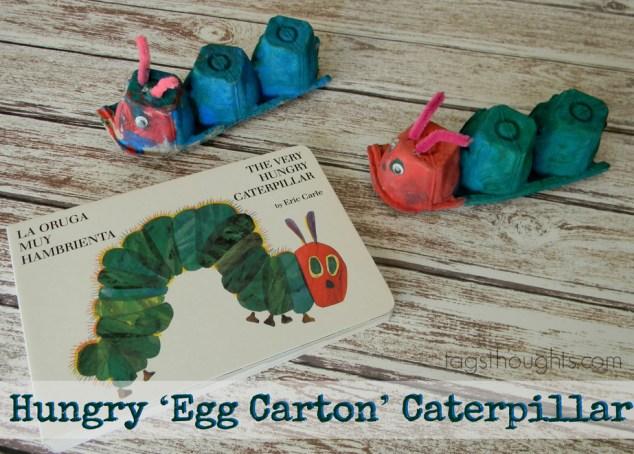 Hungry 'Egg Carton' Caterpillar Kids Craft by trishsutton.com
