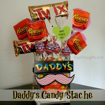 Daddy's Candy 'Stache Father's Day Gift by trishsutton.com