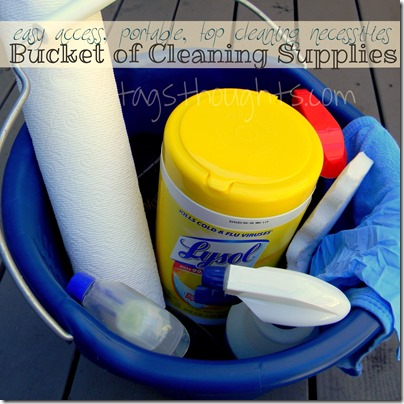 Bucket of Cleaning Supplies; Top 12 Moving Tips by TagsThoughts.com