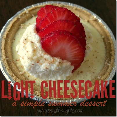 A Simple Guilt Free Recipe: Light And Lemony Cheesecake