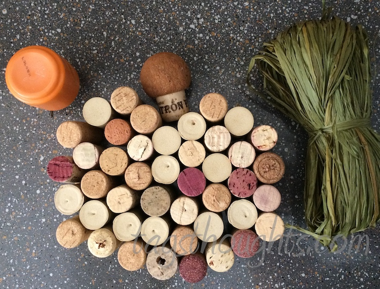 wine corks in the shape of a pumpkin