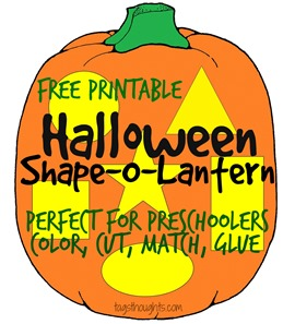 Halloween Shape-o-Lantern for Preschoolers; TrishSutton.com