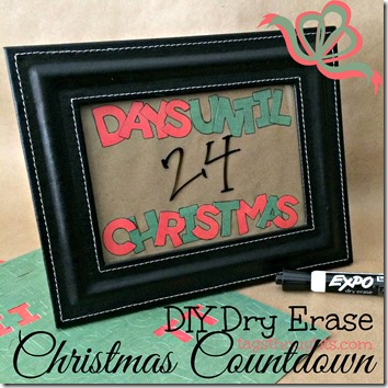 DIY Dry Erase Christmas Countdown by trishsutton.com