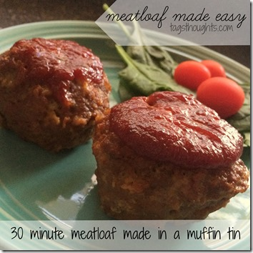 Muffin Tin Meatloaf by trishsutton.com