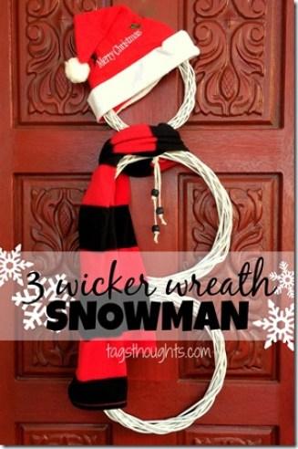 Snowman Wreath by trishsutton.com