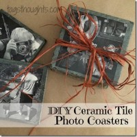 DIY Ceramic Tile Photo Coasters, TrishSutton.com