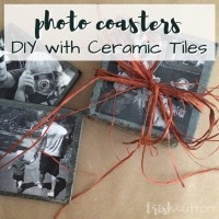 DIY Ceramic Tile Photo Coasters