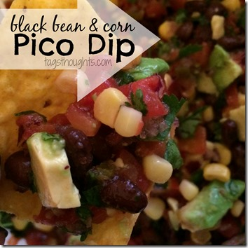 Black Bean & Corn Pico Dip; just like most people, I have a favorite recipe Black Bean & Corn Pico Dip. It's great with tortiallas, chips and with a spoon! TrishSutton.com