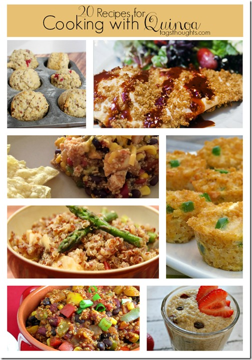 20 Recipe Round-Up Cooking with Quinoa by trishsutton.com #quinoa #recipe #roundup #glutenfree
