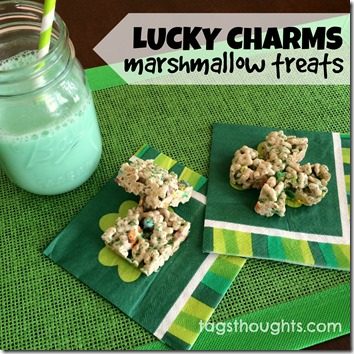 Lucky Charms Marshmallow Treats; St. Patrick's Day Breakfast