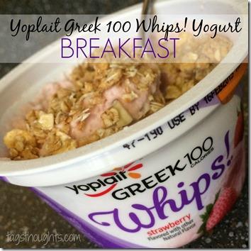 Yoplait Greek 100 Whips! Yogurt Review by trishsutton.com Breakfast