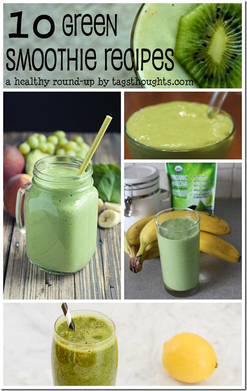 Green Smoothie Recipe Round-Up by trishsutton.com