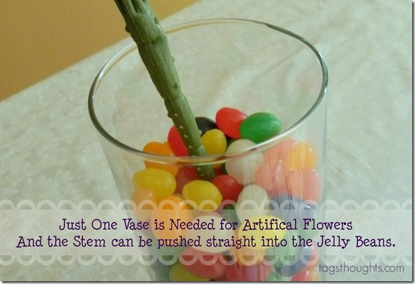 Jelly Bean Double Vase Easter Centerpiece by trishsutton.com and Easter Link-Up Party