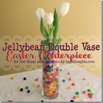 Jelly Bean Double Vase Easter Centerpiece by trishsutton.com