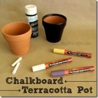 Chalk Board Terracotta Pot by trishsutton.com; A gift for Mom