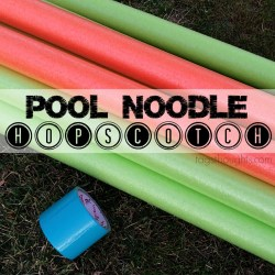 Pool Noodle Hopscotch Yard Game, trishsutton.com.