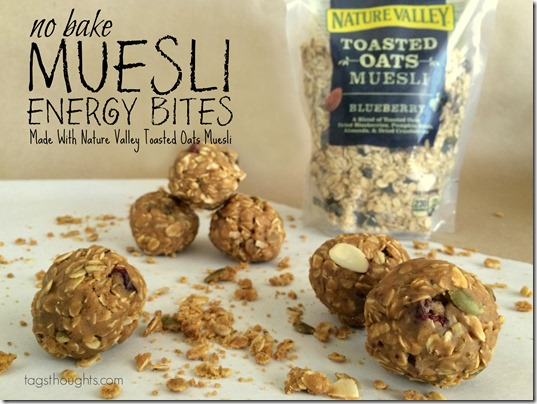 No Bake Muesli Energy Bites made with Nature Valley Toasted Oats by TagsThoughts.com
