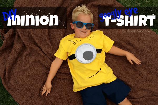 Minions are EVERYWHERE. People seem to be crazy about the little creatures. Follow along to create your own DIY 'Googly Eye' Minion T-shirt. TrishSutton.com