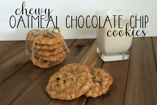 "Chewy Oatmeal Chocolate Chip Cookies also known as ""Disappearing Cookies"" and ""What Cookies?"" at our house. A slightly sweet, speedy & simple recipe."