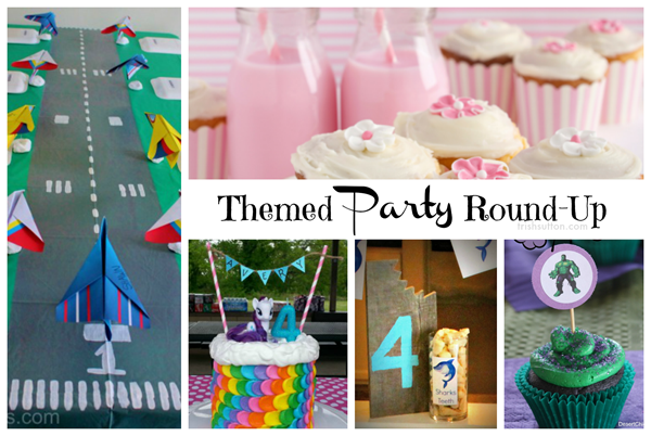 From 'American Girl' to 'Godzilla' and from 'My Little Pony' to 'Superheroes' below are 30 fun themed party posts to inspire your creative party planning.
