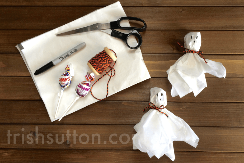 A Ghostly Treat; Candy in Costume for Trick-or-Treaters by TrishSutton.com
