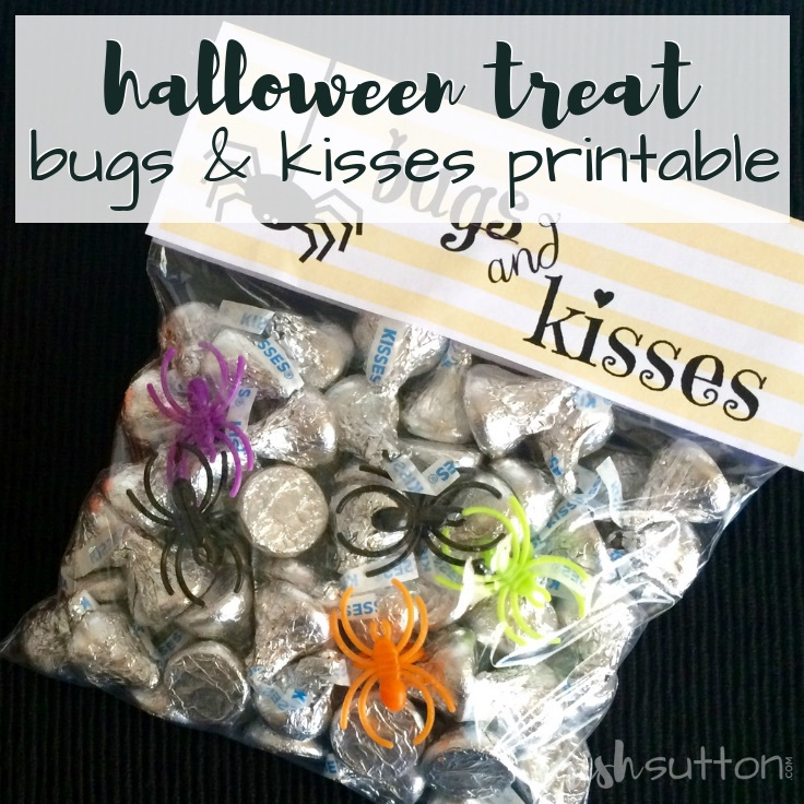 graphic regarding Bugs and Kisses Printable named Insects Kisses Halloween Handle and No cost Printable