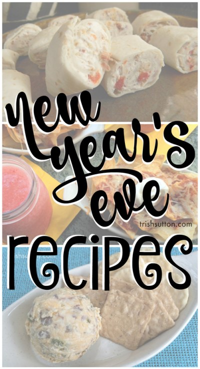 New Year's Eve Party Recipes by TrishSutton.com; 20 party food and appetizer recipes from salty & sweet, chocolate, crockpot and no bake to vegetarian and meat filled!