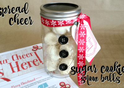 #SpreadCheer Sugar Cookie Snow Ball Recipe & Giveaway by TrishSutton.com