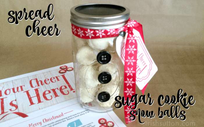 #SpreadCheer Sugar Cookie Snow Ball Recipe & Giveaway by TrishSutton.com